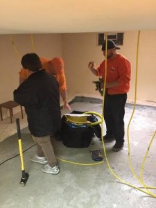 Water Damage Chowchilla Restoration Technicians Working