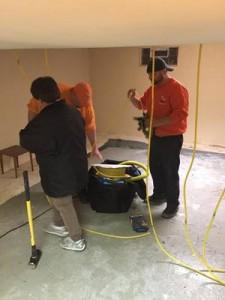 Water Damage Chowchilla Restoration Technicians Working