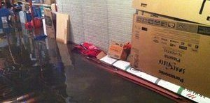 Water Damage From Flooding In Garage