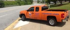 Sewage Backup Cleanup Truck